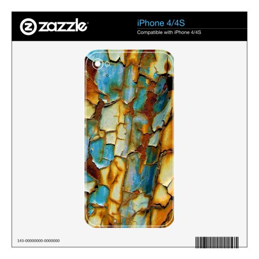Rusty Teal Blue Wall Skin For The iPhone 4S