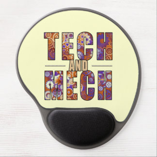 Rusty Tech and Mech Gel Mouse Pad