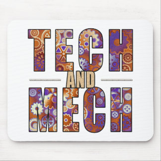 Rusty Tech and Mech Mousepad