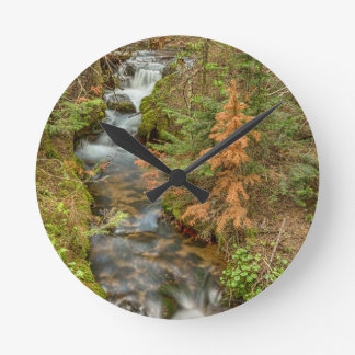 Rusty The Pine Tree and The Flowing Stream Round Clock
