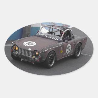 Rusty The TR4 Oval Sticker