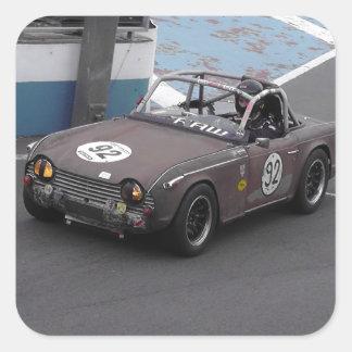 Rusty The TR4 Square Sticker