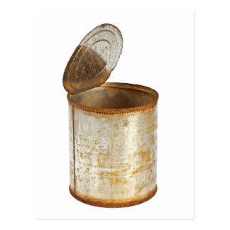 Rusty tin can postcard
