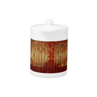 Rusty Tin Food Can Teapot