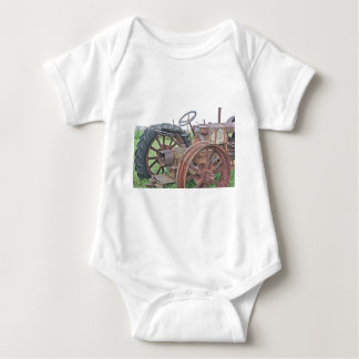 Rusty Tractor Baby Bodysuit