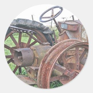 Rusty Tractor Classic Round Sticker