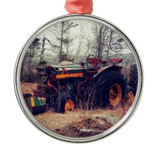 Rusty Tractor Metal Ornament