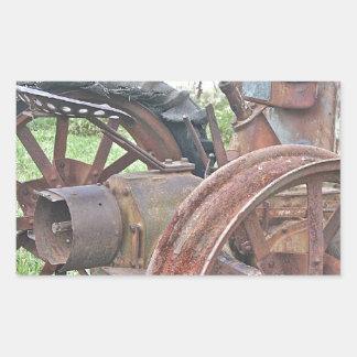 Rusty Tractor Rectangular Sticker