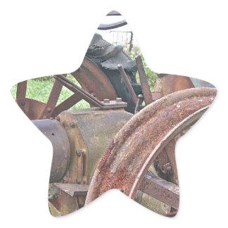 Rusty Tractor Star Sticker