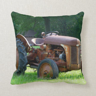 Rusty Tractor throw Pillow