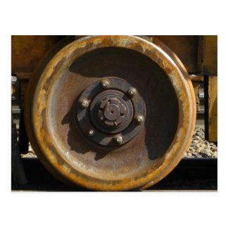 Rusty Train Wheel Postcard