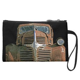 Rusty  Truck Suede Wristlet Wallet