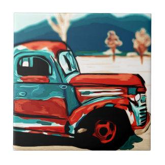 Rusty Truck Ceramic Tiles