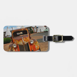 Rusty Vintage Car Tag For Luggage