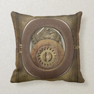 Rusty Vintage Cogs Steampunk Decor Throw Pillow