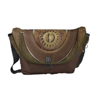 Rusty Vintage Cogs Steampunk Messenger Bag