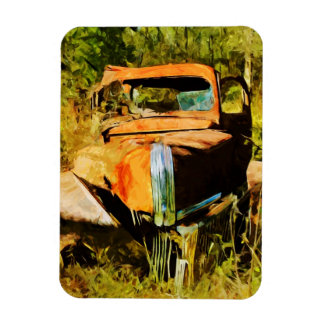 Rusty Vintage Pick Up Truck Abstract Magnet