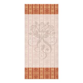 rusty vintage striped damask pattern rack card