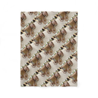 Rusty vintage tractor fleece blanket
