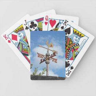 Rusty Weathervane against blue sky Bicycle Playing Cards