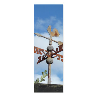Rusty Weathervane against blue sky Mini Business Card