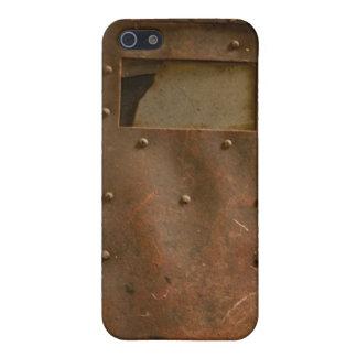 Rusty welding helmet case for iPhone SE/5/5s