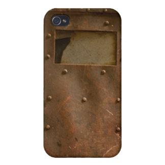 Rusty welding helmet iPhone 4/4S case
