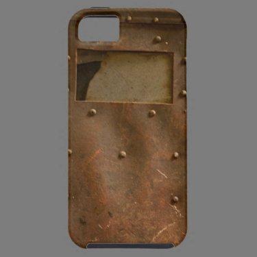 Rusty welding helmet iPhone 5 case