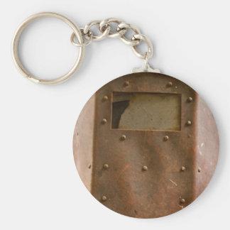 Rusty welding helmet keychain