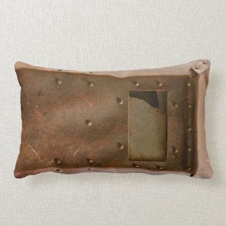Rusty welding helmet lumbar pillow
