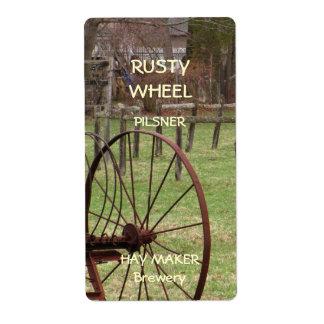 Rusty Wheel Beer Label