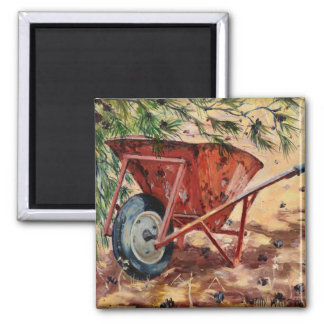 Rusty Wheelbarrow 2009 Magnet