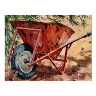 Rusty Wheelbarrow 2009 Postcard
