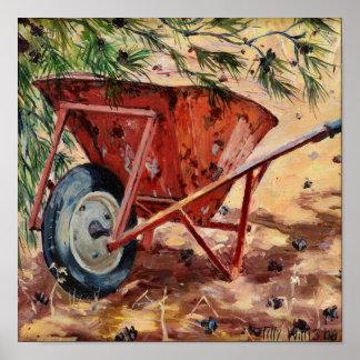 Rusty Wheelbarrow 2009 Poster