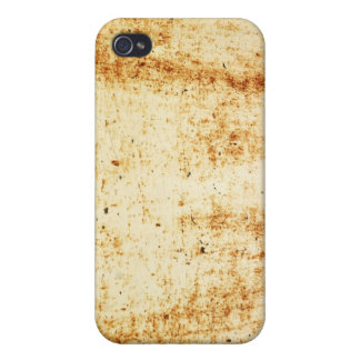 Rusty White Metal Texture iPhone 4 Case