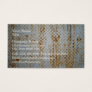 Rusty White Tread Plate Texture Business Card