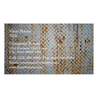 Rusty White Tread Plate Texture Double-Sided Standard Business Cards (Pack Of 100)