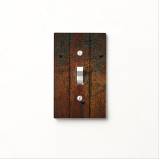 Rusty Wood Light Switch Covers