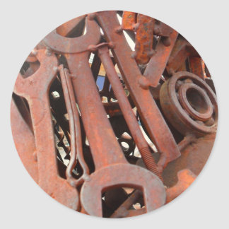 Rusty Wrenches Classic Round Sticker