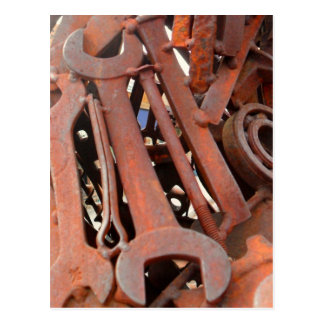 Rusty Wrenches Postcard