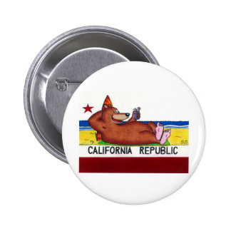 Rusty's California Bear Flag Pinback Buttons