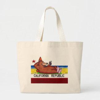 Rusty's California Bear Flag Large Tote Bag