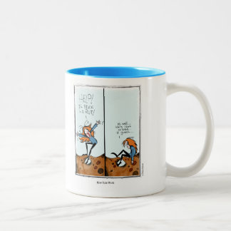 RUT cartoon by Ellen Elliott Two-Tone Coffee Mug