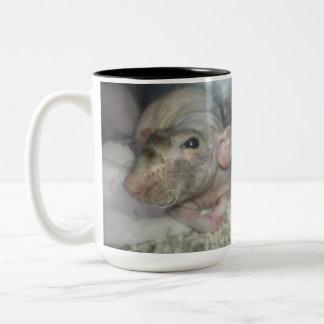 Rut/rat murine magnetic cup Two-Tone coffee mug