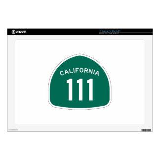 Ruta 111 del estado de California Portátil 43,2cm Skins