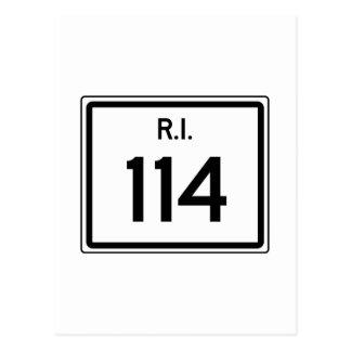 Ruta 114, Rhode Island, los E.E.U.U. Postal