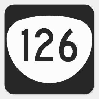 Ruta 126 de Oregon Pegatina Cuadrada