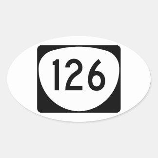 Ruta 126 de Oregon Pegatina Ovalada