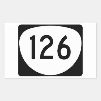 Ruta 126 de Oregon Pegatina Rectangular