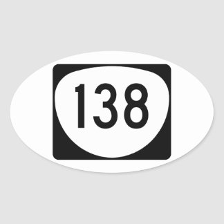 Ruta 138 de Oregon Pegatina Ovalada
